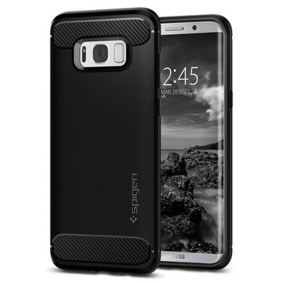 Galaxy S8 Plus Case, Genuine SPIGEN Rugged Armor Resilient Soft Cover Samsung [Colour: Black]