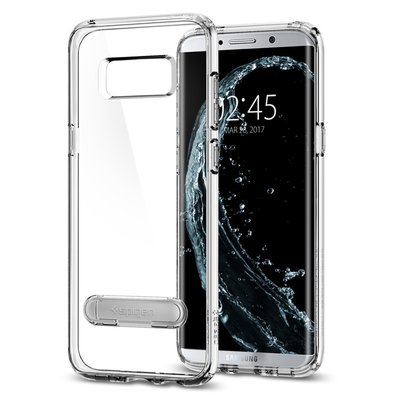Galaxy S8 Plus case, Genuine SPIGEN Ultra Hybrid S Metal Kickstand Cover [Colour: Crystal Clear]