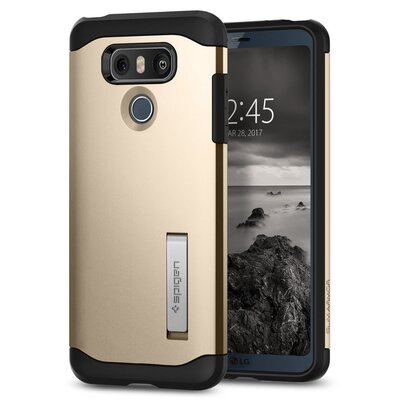 LG G6 Case, Genuine SPIGEN Slim Armor HEAVY DUTY KICK-STAND Cover for LG [Colour: Champagne Gold]