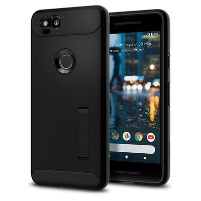 Google Pixel 2 Case Genuine SPIGEN Slim Armor Heavy Duty Cover for Google [Colour:Black]