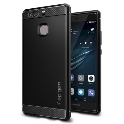 Huawei P9 Case, Genuine Spigen Rugged Armor Resilient Ultimate protection Cover for Huawei [Colour: Black] - L06CS20376