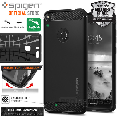 Huawei GR3 P8 Lite 2017 Case, Genuine SPIGEN Rugged Armor Soft Cover for Huawei [Colour: Black]