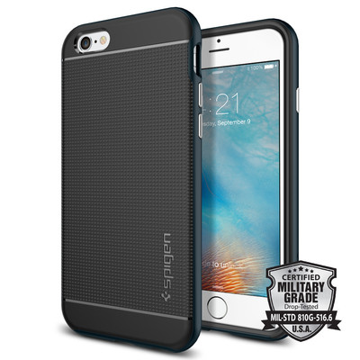 Spigen Neo Hybrid Bumper Case Cover for Apple iPhone 6 Plus / 6S Plus Unpackaged [Metal Slate] -  SGP11063