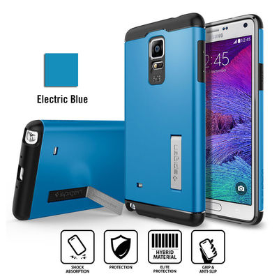 Spigen Slim Armor Case with Stand for Samsung Galaxy Note 4 UNPACKAGED [Colour: Electric Blue] -  SGP11131