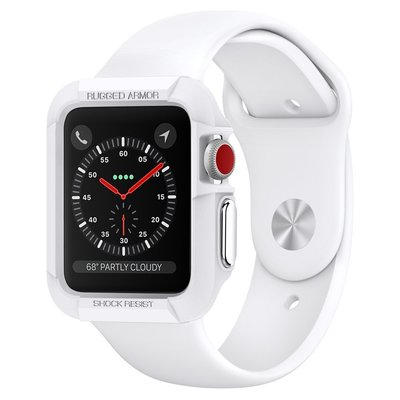 FOR Apple Watch Case, Genuine SPIGEN RUGGED ARMOR Cover for [Series: Series 1][Colour: White] [Size: 38mm] -  SGP11486