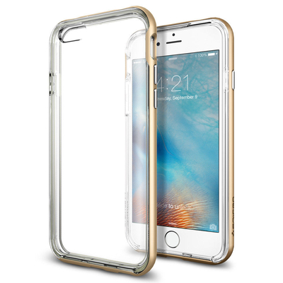 iPhone 6S/ 6 Case, Genuine SPIGEN Neo Hybrid EX SLIM DUAL LAYER Cover for Apple [Colour: Champagne Gold ] -  SGP11624