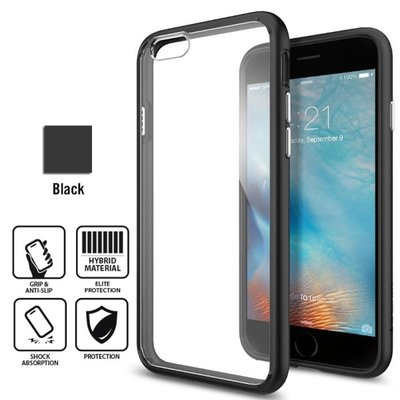 Genuine Spigen Ultra Hybrid Case Cover for Apple iPhone 6 Plus / 6S Plus UNPKG [color: Black] -  SGP11646