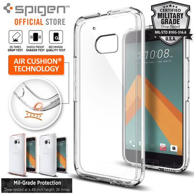 HTC 10 Case, Genuine SPIGEN Ultra Hybrid SOFT Bumper Cover for HTC