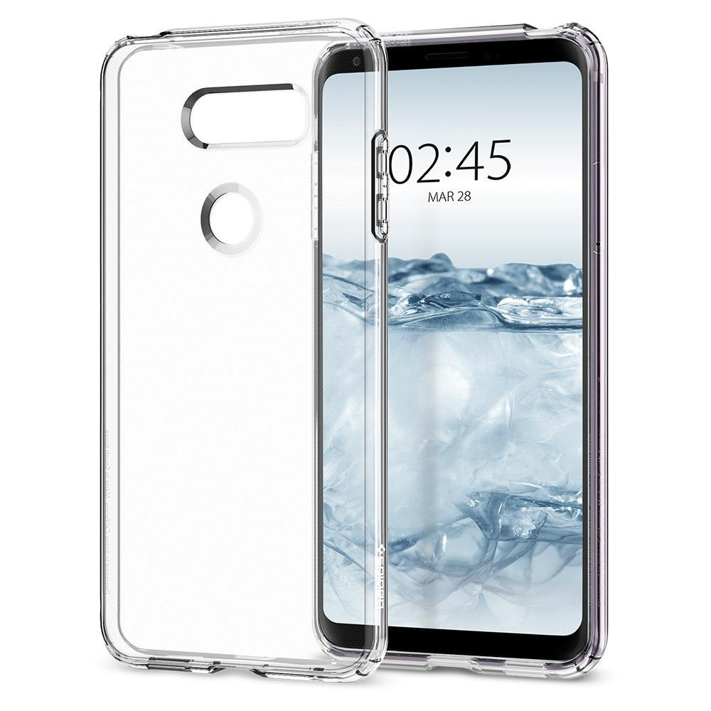 new product fb5e9 d00f4 LG V30 Case, Genuine SPIGEN Liquid Crystal Exact Fit Slim Soft Cover ...