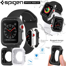 For Apple Watch Series 2 & 1 Case, Genuine SPIGEN Rugged Armor Soft Cover for 42mm