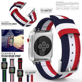 Genuine Moko Woven Nylon Sports Strap Band for Apple Watch Series 3/2/1 (38mm)
