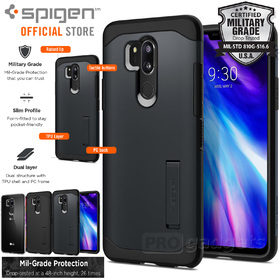 LG G7 ThinQ Case, Genuine SPIGEN Slim Armor Heavy Duty Soft Cover for LG