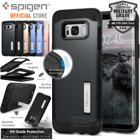 Galaxy S8 Plus Case, Genuine SPIGEN Slim Armor Heavy Duty Kick-stand Cover