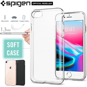 iPhone 8 Case, Genuine SPIGEN Liquid Crystal Slim Exact Fit Soft Cover for Apple