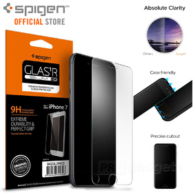 iPhone 8 Plus Screen Protector, Genuine SPIGEN GLAS.tR Slim Tempered Glass