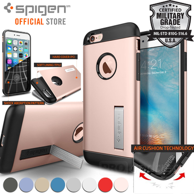 iPhone 6/6S Case, Genuine Spigen Slim Armor Dual Layer Cover Unpackaged