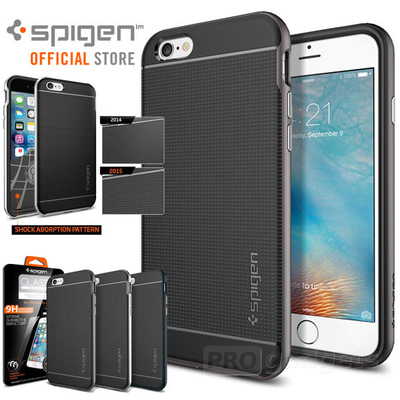 GENUINE Spigen Neo Hybrid Bumper Cover + GLAS.tR SLIM GLASS for iPhone 6s /6
