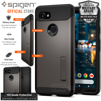 Google Pixel 2 XL Case Genuine SPIGEN Slim Armor Heavy Duty Cover for Google