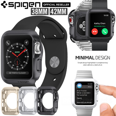 For Apple Watch Series 3/2/1 Case, Genuine SPIGEN Slim Armor Soft Cover for 42mm