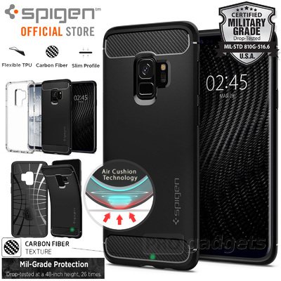Galaxy S9 Case, Genuine SPIGEN Rugged Armor Resilient Soft Cover for Samsung