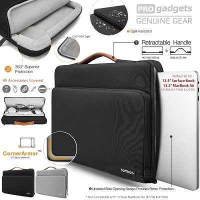 "Genuine Tomtoc 13-13.5"" Protective Laptop Briefcase Bag for MacBook Air 13"""