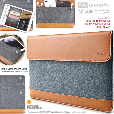 Genuine tomtoc Ultra Slim Tablet Pocket Sleeve for Apple iPad 9.7 10.5 Pro 11 Air
