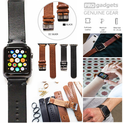 Genuine Southern Straps Handcrafted Leather Band for Apple Watch Series 6/5/4/3/2/1/SE (38mm/40mm)