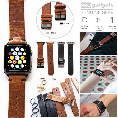 Genuine Southern Straps Handcrafted Leather Band for Apple Watch Series 4/3/2/1 (42mm/44mm)
