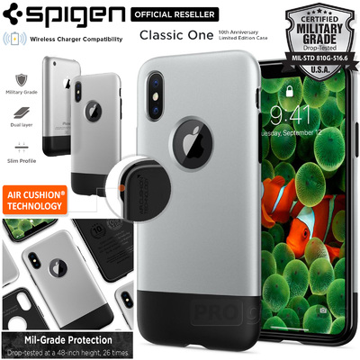 iPhone X Case, Genuine SPIGEN Dual Layer Air Cushion Classic One Limited Edition