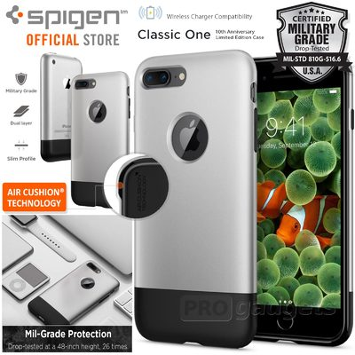 iPhone 8 Plus / 7 Plus Case, Genuine SPIGEN Dual Layer Air Cushion Classic One Cover