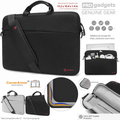 "Genuine tomtoc 15.6"" Slim Protective Laptop Shoulder Bag for MacBook/HP/Dell/Lenovo/Acer"