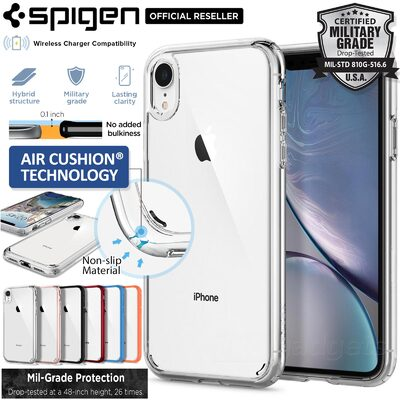 iPhone XR Case, Genuine SPIGEN Ultra Hybrid Bumper Hard Cover for Apple