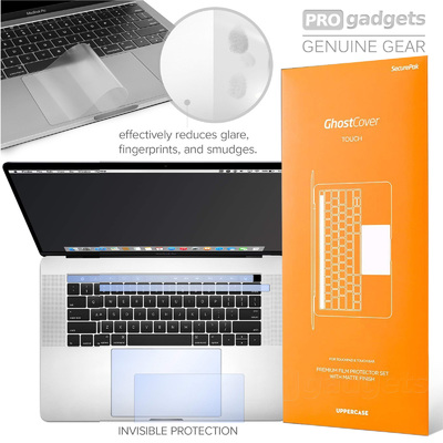 "Genuine UPPERCASE GhostCover Touch Bar Track Pad Protector Macbook Pro 13"" 2016+"