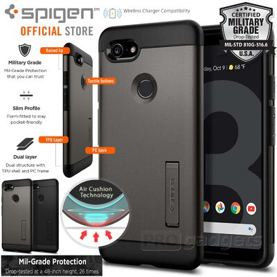 Google Pixel 3 Case, Genuine SPIGEN Slim Armor Heavy Duty Cover for Google