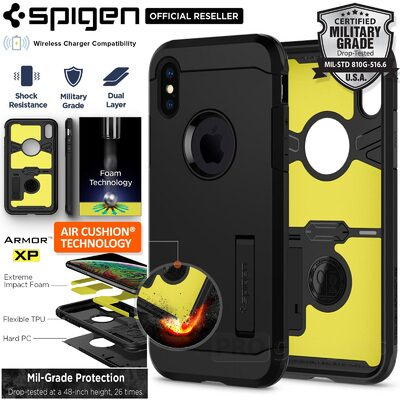 iPhone X Case, Genuine SPIGEN Impact Shock proof Tough Armor XP Cover for Apple