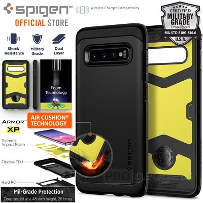 Galaxy S10 Case, Genuine SPIGEN Shock proof Tough Armor XP Cover for Samsung