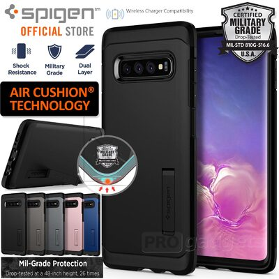 Galaxy S10 Plus Case, Genuine SPIGEN Heavy Duty Tough Armor Cover for Samsung
