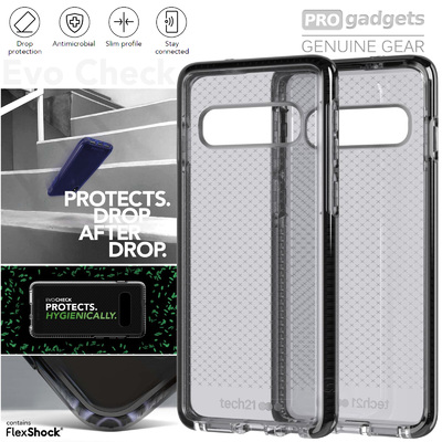 Genuine TECH21 Evo Check Slim Tough Case Cover for Samsung Galaxy S10+ Plus