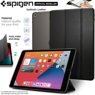 iPad 10.2 2020 / 2019 Case, Genuine Spigen Smart Fold Auto wake Stand Cover for Apple