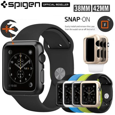 FOR Apple Watch Case, Genuine SPIGEN ULTRA THIN FIT Cover for 38mm/42mm