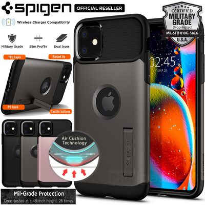 iPhone 11 Case, Genuine SPIGEN Slim Armor Heavy Duty Hard Cover for Apple