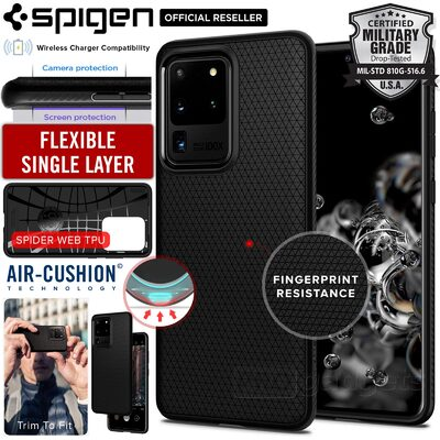Galaxy S20 Ultra Case, Genuine SPIGEN Liquid Air Soft TPU Armor Slim Cover for Samsung