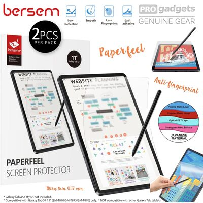 Genuine BERSEM Paperlike Screen Protector for Samsung Galaxy Tab S7/ Tab S7 5G 11.0