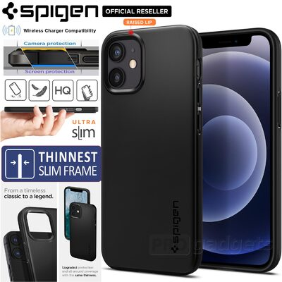 Genuine SPIGEN Ultra Thin Fit Slim Hard Cover for Apple iPhone 12 mini (5.4-inch) Case