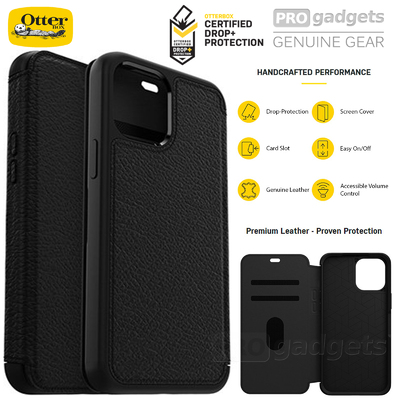 Genuine OTTERBOX Strada Wallet Leather Folio Cover for Apple iPhone 12 mini (5.4-inch) Case