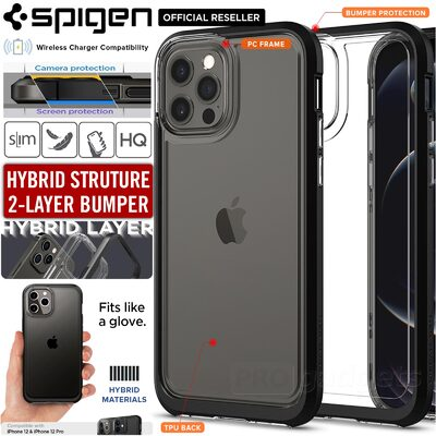 Genuine SPIGEN Neo Hybrid Crystal Clear Bumper Cover for Apple iPhone 12 / iPhone 12 Pro (6.1-inch) Case