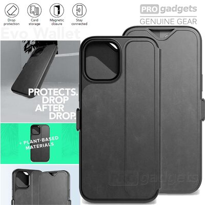 Genuine TECH21 Evo Wallet Folio Card Case Tough Cover for Apple iPhone 12 / 12 Pro (6.1-inch) Case