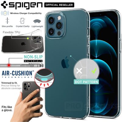 Genuine SPIGEN Liquid Crystal Exact Fit Slim Soft Cover for Apple iPhone 12 Pro Max (6.7-inch) Case