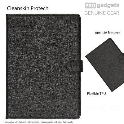 "CLEANSKIN Leather Book Cover for Apple iPad Air 4 10.9"" 2020 /iPad Pro 11 2018 Case - Unpackaged"