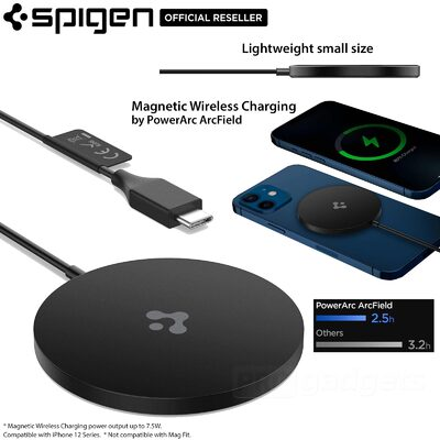 SPIGEN ArcField PF2009 Magnetic Wireless Charger for iPhone 12 Series